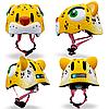 Детский защитный шлем Crazy Safety Леопард желтый, фото 2