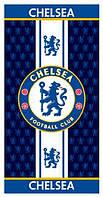 Полотенце пляжное махровое велюровое Турция 100% хлопок 75х150 см - футбол FC-Chelsea ФК Челси