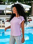 Летняя блуза с коротким рукавом в свободном фасоне повседневная в нескольких расцветках (р. 42-56) 8413485, фото 2