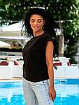 Летняя блуза с коротким рукавом в свободном фасоне повседневная в нескольких расцветках (р. 42-56) 8413485, фото 9