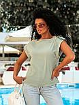 Летняя блуза с коротким рукавом в свободном фасоне повседневная в нескольких расцветках (р. 42-56) 8413485, фото 4