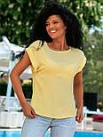 Летняя блуза с коротким рукавом в свободном фасоне повседневная в нескольких расцветках (р. 42-56) 8413485, фото 5