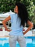 Летняя блуза с коротким рукавом в свободном фасоне повседневная в нескольких расцветках (р. 42-56) 8413485, фото 7