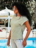 Летняя блуза с коротким рукавом в свободном фасоне повседневная в нескольких расцветках (р. 42-56) 8413485, фото 10