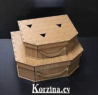 Деревянные подарочные коробки коричневый цвет Для упаковки подарков!