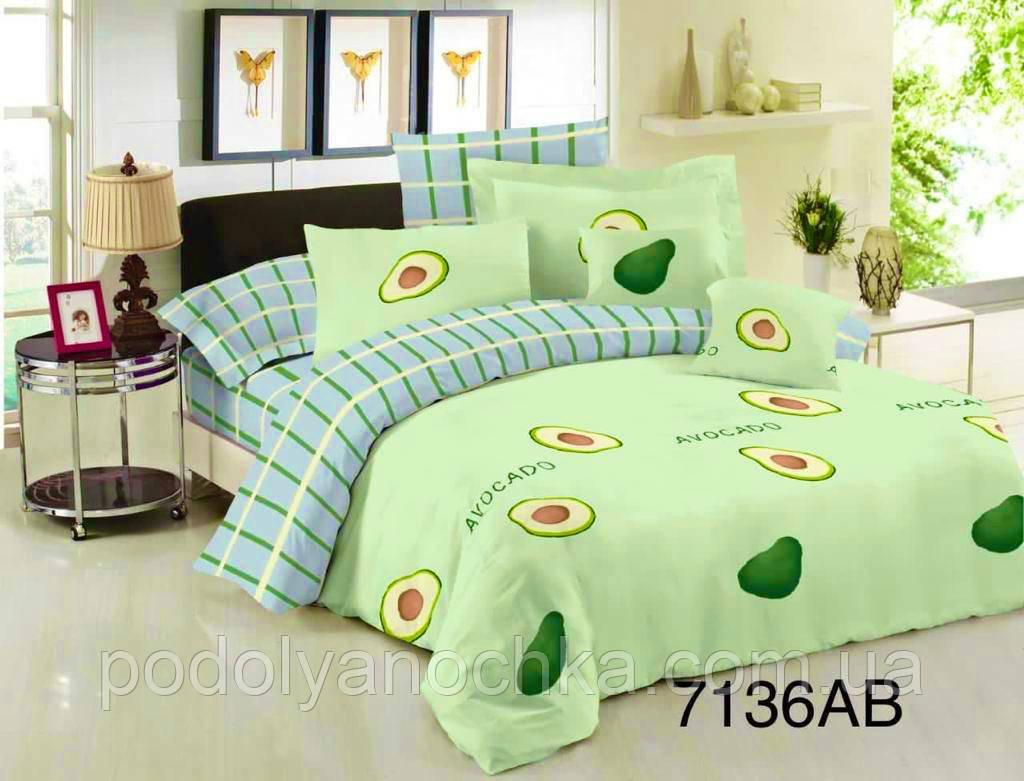 Полуторний комплект з бязі голд люкс Яскраве авокадо