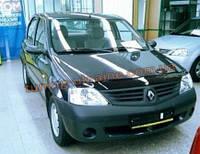 Дефлектор капота (мухобойка) FLY для Dacia Logan MCV 2004+ (Дачиа Логан МСВ 2004+)