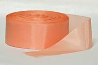 Лента атлас 5 см/1м нежно персиковая