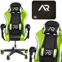 Комп'ютерне крісло для геймера JUMI ARAGON TRICOLOR GREEN