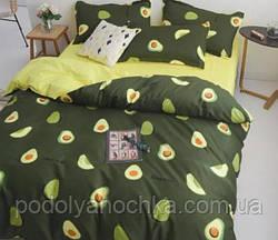 Полуторний комплект з бязі голд люкс Оливкове авокадо