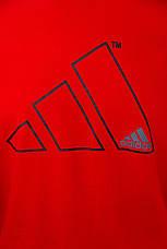 Футболка чоловіча Adidas Червона Бавовняна Приталені з логотипом Для спорту і на кожен день Адідас L, фото 3