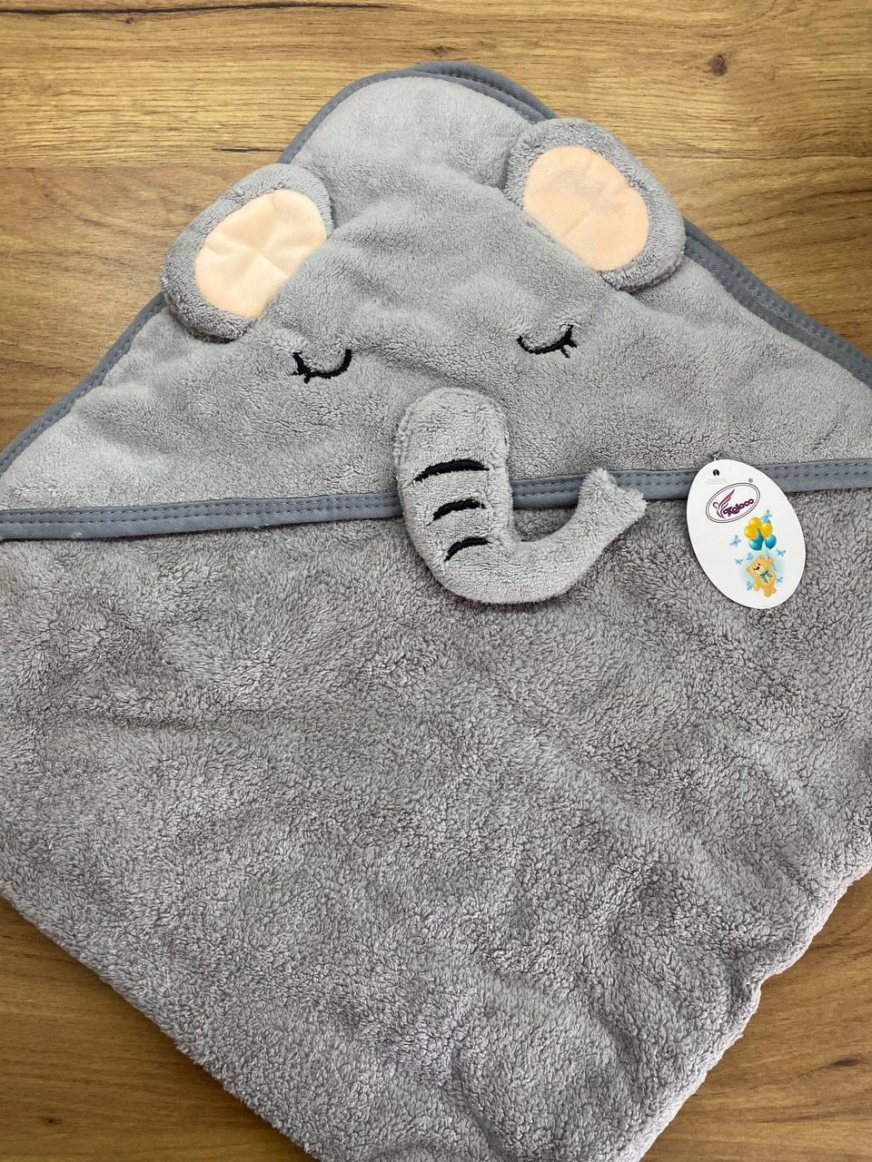 Полотенце уголок  для купания  детское  Koloco 80*80
