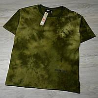 Чоловіча футболка ESSENTIALS Tie Dye dark haki з якісним принтом, фото 1