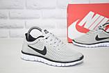 Сірі легкі кросівки в стилі Nike Free Run 3.0 унісекс, фото 2
