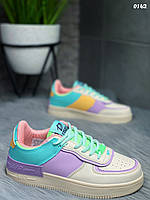 Кеды/кроссовки женские разноцветные под Nike Air Force