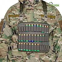 Нагрудник A-line М71 синтетический (16 калибр, 36 патронов) хаки, фото 1