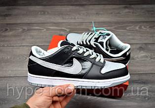 Мужские Кроссовки Nike SB Dunk Low Black Grey чоловічі кросівки найк сб данк