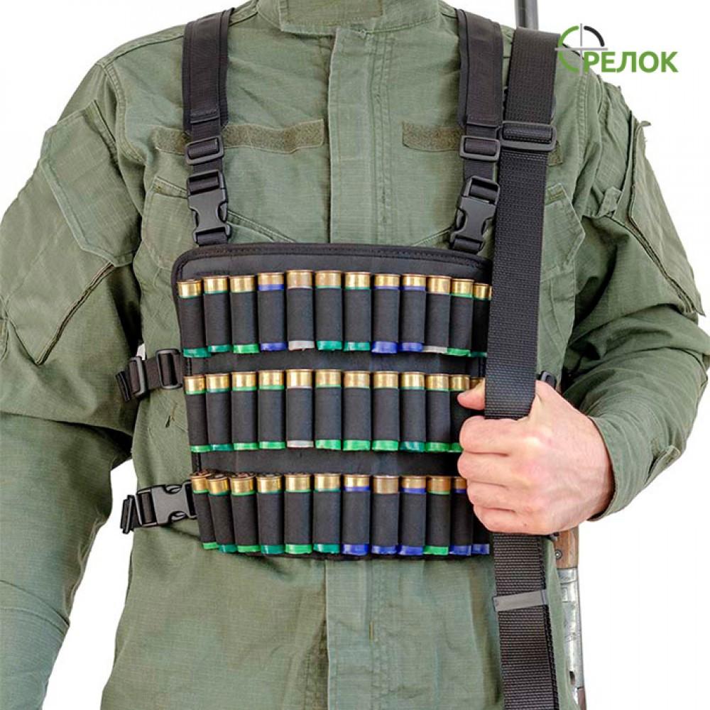 Нагрудник A-line М71 синтетический (12 калибр, 36 патронов) черный