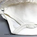 Боді сукня+пов'язка дів. Молочний Інтерлок 0314 Miniborn Туреччина 56-62(р), фото 2