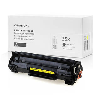 Совместимый картридж HP 35X (CB435A) Black, повышенный ресурс, 3.000 копий, аналог HP 35A от Gravitone