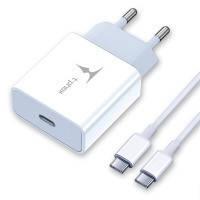 Сетевая зарядка T-PHOX PD 18W Charger+Type-C-C 60W cable 1m (White)