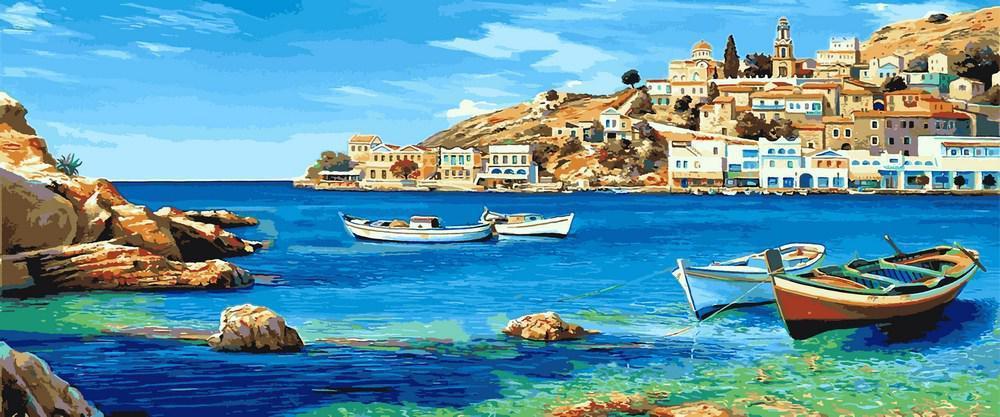 Картина по номерам рисование Babylon VPT033 Средиземноморский залив Худ.Адриано Галассо 50х120см набор для