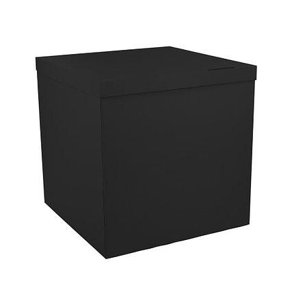 Коробка-сюрприз чорного кольору (з обох боків). Розмір 700х700х700мм