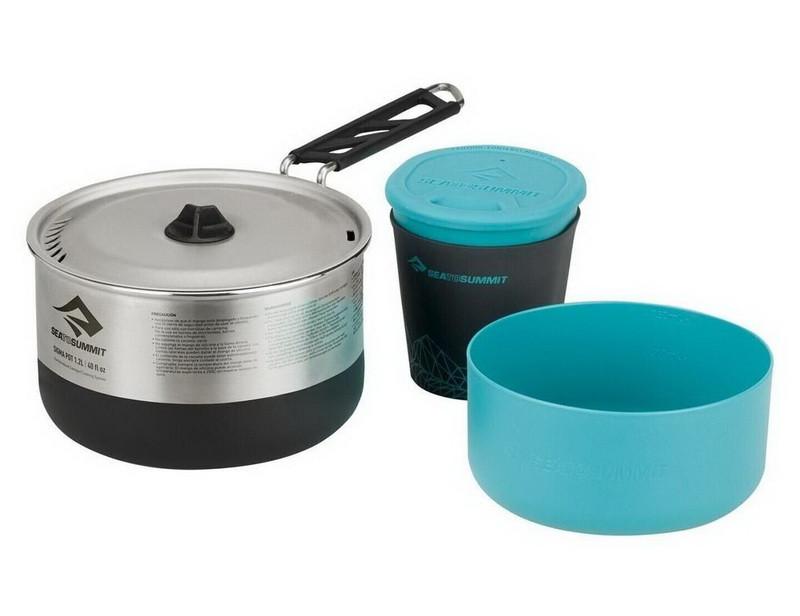 Набор посуды Sea to Summit Sigma Set 1.1 (кастрюля, миска, чашка), черный-голубой