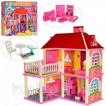 Детский игровой набор, двухэтажный домик для кукол высотой 16 см 6980 в комплекте с мебелью