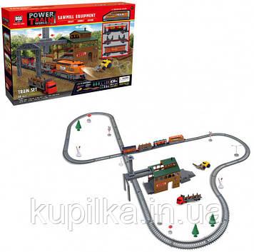 Детский игровой набор железная дорога с погрузчиком, поездом и аксессуарами 2083 (длина путей 450 см)