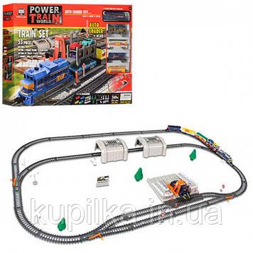 Игровой набор железная дорога с погрузочной станцией и поездом с регулировкой скорости 2084
