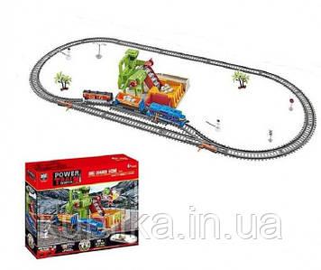 Детская железная дорога со звуковыми эффектами, регулируется скорость поезда, работает от батареек, 20817