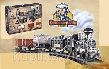 Игровой набор детская железная дорога для мальчика 3072 с дымовым эффектом, звуком и светом
