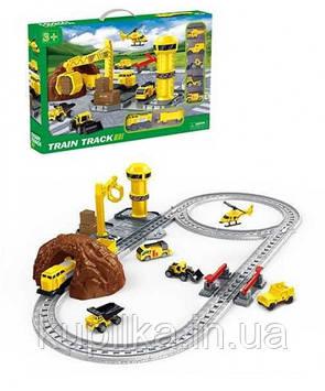 Игровой набор для мальчика детская железная дорога 888-3 с шестью видами транспорта