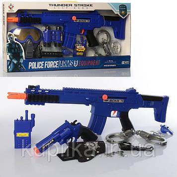 Детский игровой набор полицейского для мальчика P018AB с маской, автоматом и другими аксессуарами