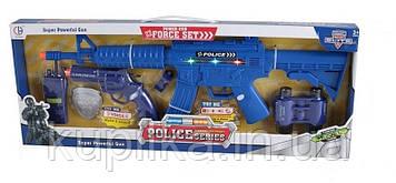 Детский военный набор для мальчика СН 920 В-5 с автоматом со звуком, светом и отдачей, пистолетом и рацией