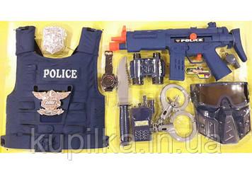 Игровой набор полицейского для мальчика P013 с автоматом, жилетом, биноклем и другими аксессуарами