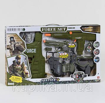 Детский военный набор для мальчика 34280 с пистолетом со звуковыми эффектами, автоматом, маской, биноклем