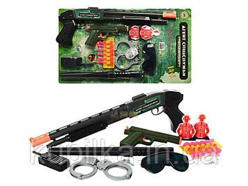 Детский игровой набор полиции для мальчика M 0259 U/R ружьё,очки,пистолет,дубинка,наручники