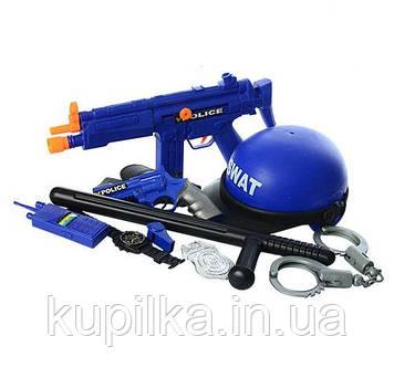 Игровой набор полицейского LimoToy 33540 с каской, автоматом, рацией, наручниками, пистолетом и дубинкой