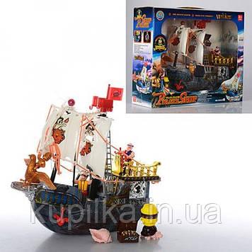 Детский игровой Пиратский корабль 50828D в комплекте с фигурками пиратов и аксессуарами