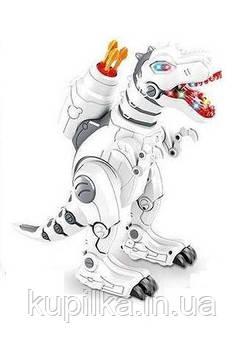 Интерактивный динозавр на радиоуправлении 1825-13 ходит, танцует, стреляет, программируется, с подсветкой