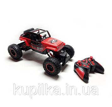 Внедорожник с большими колесами на радиоуправлении Diancheng Toys Rock Crawler 0136 красный
