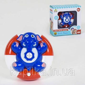 Игрушка для ванной, водоплавающий слоник с фонтаном SL 87031 работает от батареек
