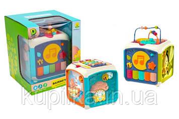 Многофункциональный, музыкальный, детский, развивающий логический куб 740 для детей с 18 месяцев
