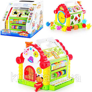 Музыкальная игрушка сортер 9196 (KI-7047) Теремок со звуковыми и световыми эффектами