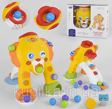 Детский развивающий игровой центр QX 91169 E со звуковыми и световыми эффектами, сортером, шариками