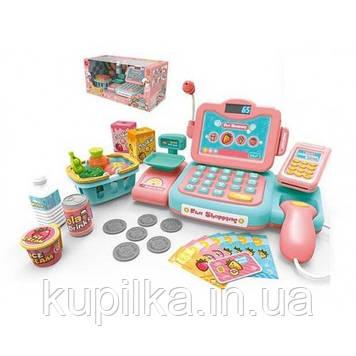 Детский кассовый аппарат 888 E с звуковыми эффектами сканером и весами в наборе 24 предмета