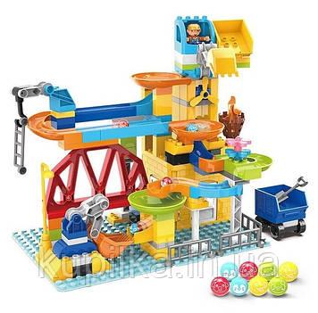Детский конструктор для детей от 3-х лет Парк аттракционов 2588 В с человечком и шариками (128 деталей)