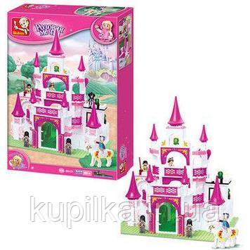 """Детский игрушечный конструктор для девочки Sluban M38-B0151 """"Замок для принцессы"""" 508 деталей"""